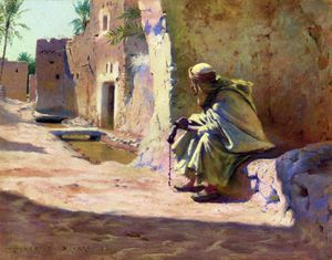 Charles James Theriat - In The Shade, Biskra