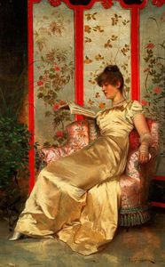 Frederick Soulacroix - Lady Reading