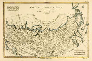 Rigobert Bonne (Charles Marie Rigobert Bonne) - Map Of The Russian Empire, In Europe And Asia, From -atlas De Toutes Les Parties Connues Du Globe Te