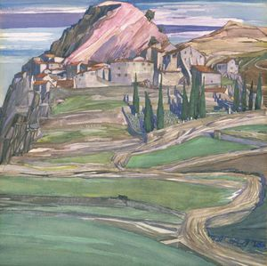 Charles Rennie Mackintosh - A Hill Town In Southern France