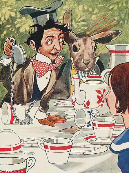 What Day Of The Month Is It' He Said, Turning To Alice by Charles Robinson (1932-2006, United States) | WahooArt.com