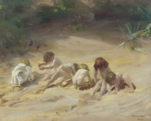 Charles Henry Sims - Children At Play