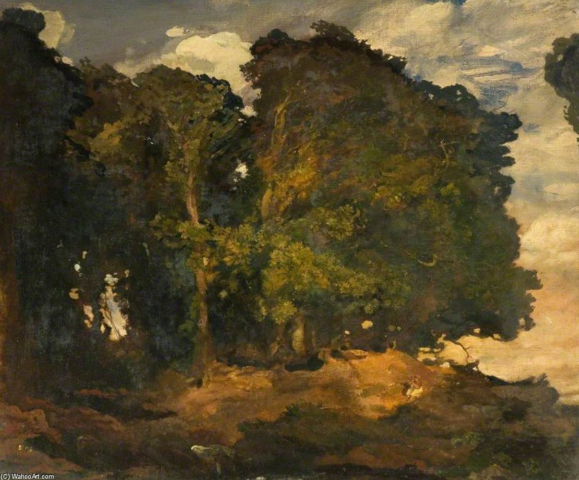 Country Scene, Forest Trees by Charles Henry Sims (1873-1928, United Kingdom)