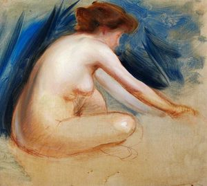 Charles Henry Sims - Female Nude