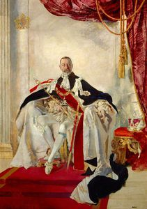George V by Charles Henry Sims  (order Fine Art fine art print Charles Henry Sims)