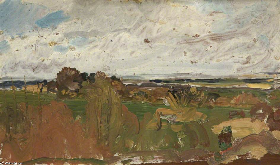 Landscape by Charles Henry Sims (1873-1928, United Kingdom) | WahooArt.com