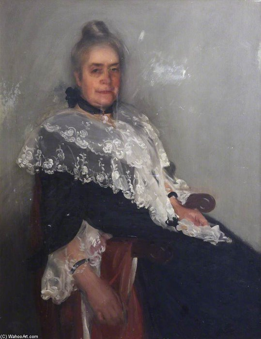 Mary Elizabeth Menzies by Charles Henry Sims (1873-1928, United Kingdom) | Oil Painting | WahooArt.com