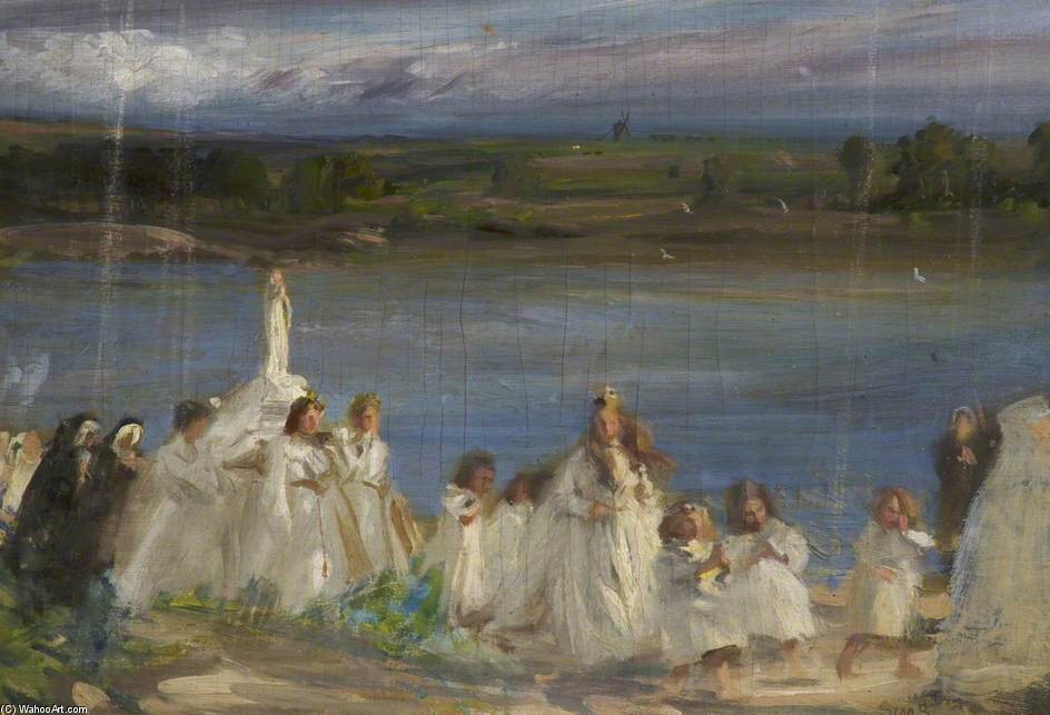 Procession by Charles Henry Sims (1873-1928, United Kingdom) | Museum Quality Reproductions | WahooArt.com
