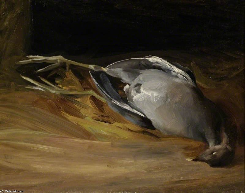 Study Of A Dead Rail by Charles Henry Sims (1873-1928, United Kingdom) | Oil Painting | WahooArt.com