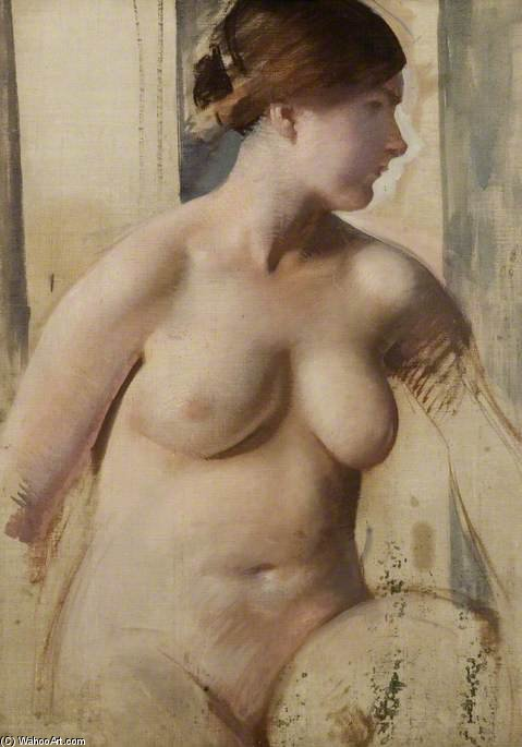 Study Of A Nude by Charles Henry Sims (1873-1928, United Kingdom) | WahooArt.com