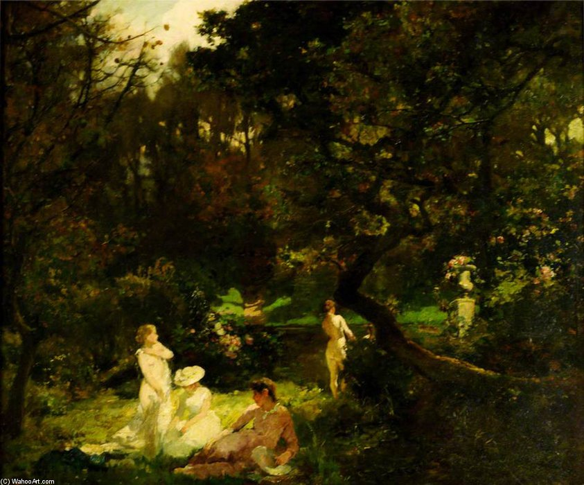 The Bathers by Charles Henry Sims (1873-1928, United Kingdom) | WahooArt.com