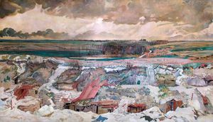Charles Henry Sims - The Old German Front Line, Arras