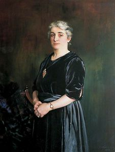 Charles Spencelayh - Mrs Price, Wife Of Alderman Price, Mayor Of Rochester