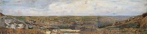 Charles Spencelayh - Panoramic View Of Luton, Chatham