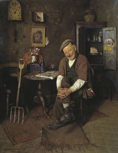 Charles Spencelayh - War Or No War, Who Cares