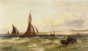 Charles Stuart - Sailing Vessels Off The Coast