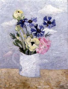 Christopher Wood - Flowers In A White Mug