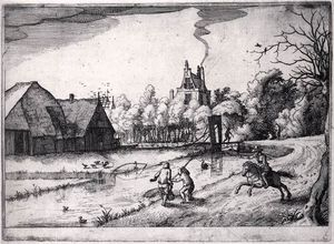 Claes Jansz The Younger Visscher - Jan Deyman's Country House And Orchard_2