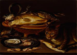 Clara Peeters - Still Life Of Fish And Cat