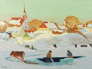 Clarence Alphonse Gagnon - The Ice Harvest
