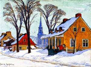 Clarence Alphonse Gagnon - Winter Morning In Baie-saint-paul