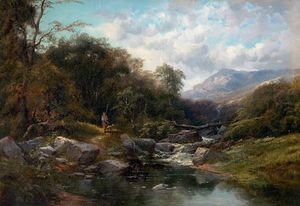 Clarence Henry Roe - A Mountain Stream
