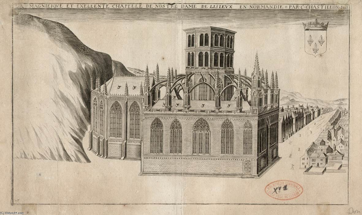 Order Paintings Reproductions | The Chapel Of Notre-dame De Lisieux by Claude Chastillon (1559-1616, France) | WahooArt.com
