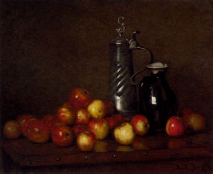 Claude Joseph Bail - Apples With A Tankard And Jug