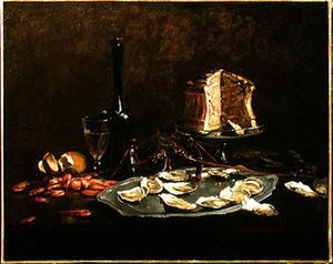 Claude Joseph Bail - Still Life With Seafood