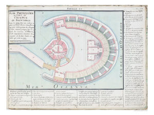 Claude Masse - Masse Plan Of The Chapus Fort From Traite De Fortifications