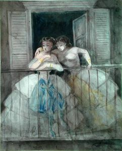 Constantin Guys - Girls On The Balcony