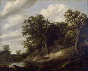 Cornelis Gerritsz Decker - Cottage Among Trees On Bank Of Stream