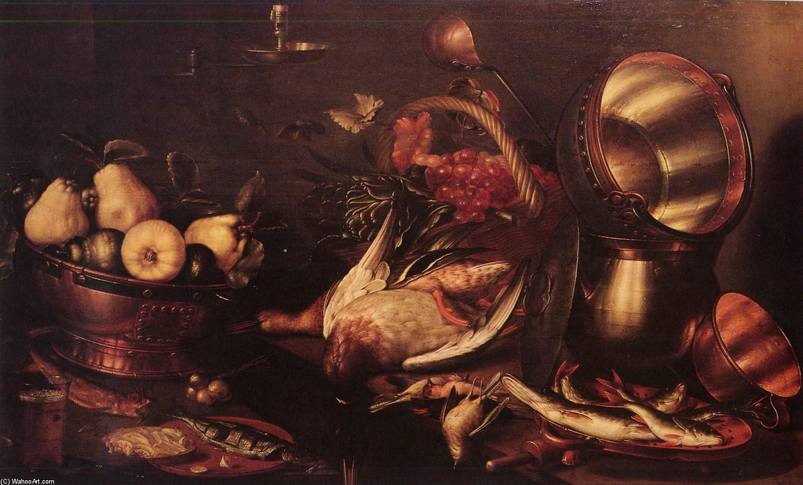 Favori Morte De Cuisine by Cornelis Jacobsz Delff (1580-1638, Netherlands) FQ01