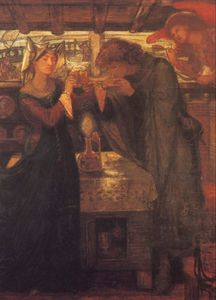 Dante Gabriel Rossetti - Tristram And Isolde Drinking The Love Potion