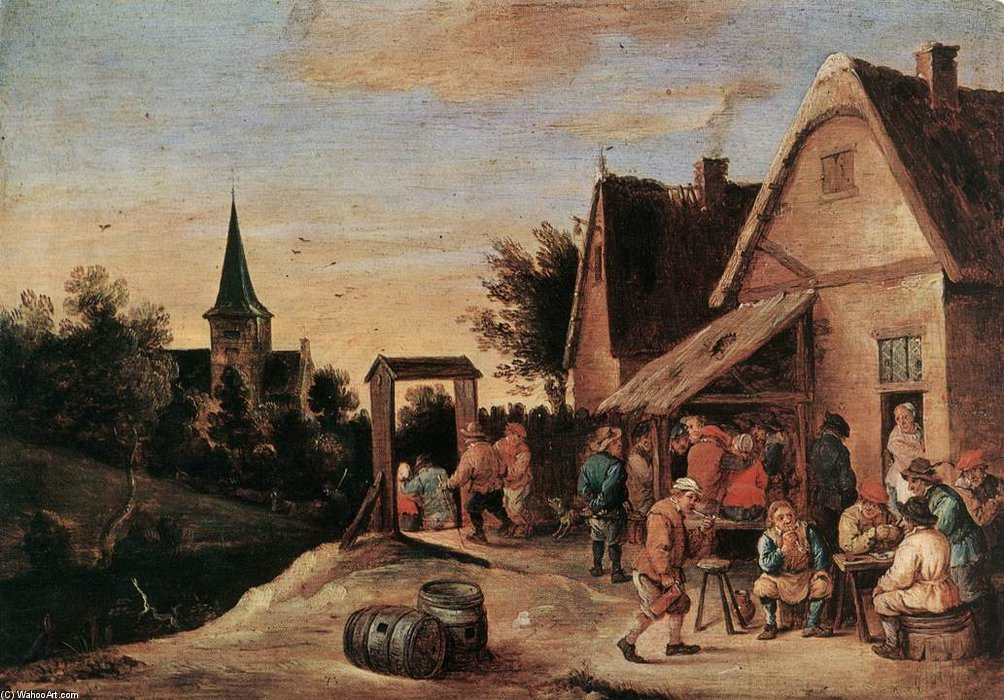 Village Feast by David Teniers The Elder (1582-1649, Belgium) | WahooArt.com