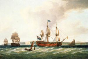 Dominic Serres - The 'royal George' And Other Vessels