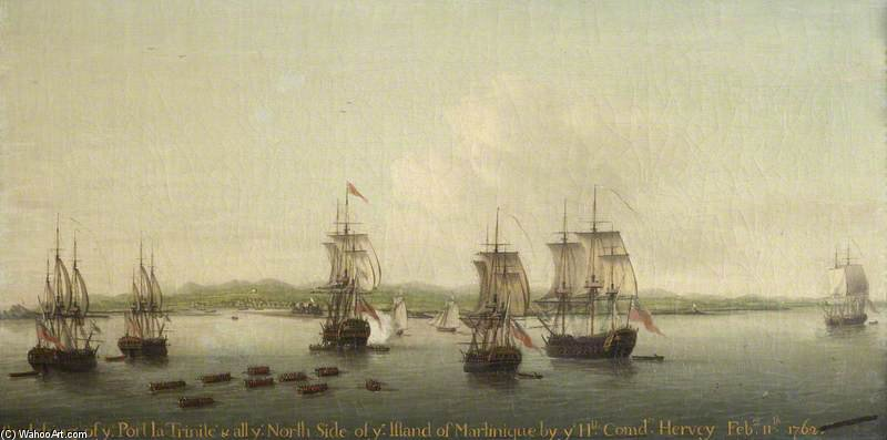 The Capture Of Martinique by Dominic Serres (1722-1793, France) | Oil Painting | WahooArt.com