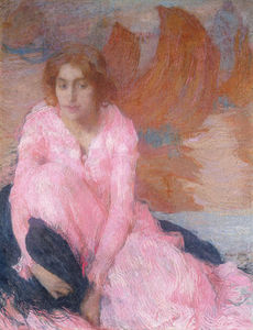 Edmond Francois Aman Jean - The Pink Dress; La Robe Rose