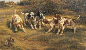 Edmund Henry Osthaus - Five Pointer Puppies