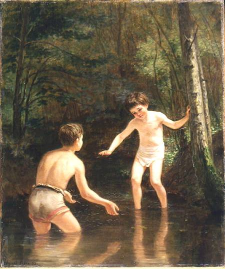 Order Museum Quality Copies | Bathing Boys by Edouard Frère (1819-1886, France) | WahooArt.com