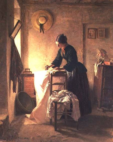 The Laundress by Edouard Frère (1819-1886, France) | Museum Quality Reproductions | WahooArt.com