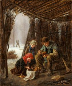 Edouard Frère - The Woodcutter's Meal