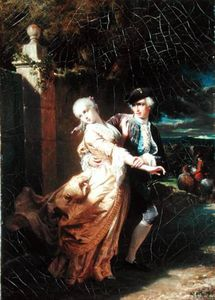 Edouard Louis Dubufe - Lovelace's Kidnapping Of Clarissa Harlowe