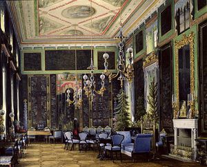 Eduard Hau - The Chinese Room In The Great Palais In Tsarskoye Selo