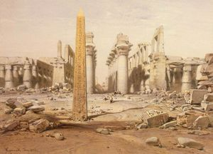 Eduard Hildebrandt - View Of The Ruins Of The Temple Of Karnak