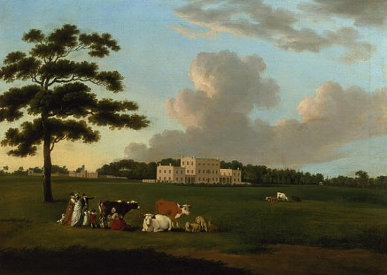 Bulwell Hall, Nottingham by Edward Dayes (1763-1804, United Kingdom) | Painting Copy | WahooArt.com
