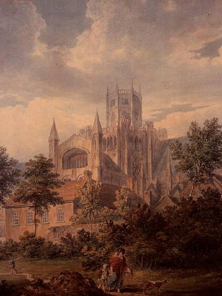 Ely Cathedral From The South East (detail) by Edward Dayes (1763-1804, United Kingdom) | Museum Quality Reproductions | WahooArt.com