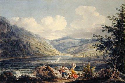 Haweswater, Westmoreland, C.1795 by Edward Dayes (1763-1804, United Kingdom) | Museum Quality Reproductions | WahooArt.com