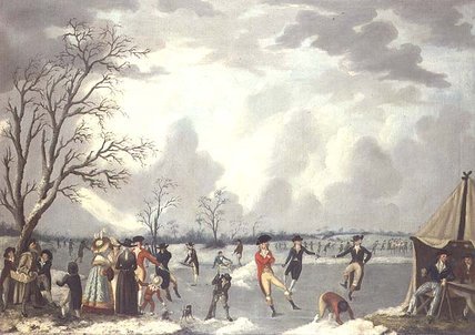 Skating Scene by Edward Dayes (1763-1804, United Kingdom) | Museum Quality Reproductions | WahooArt.com