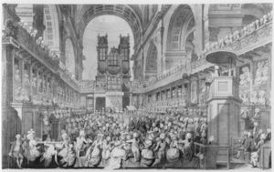 Edward Dayes - Thanksgiving At St. Paul's For George Iii's